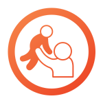 Icon of a parent holding a toddler in the air in the Franchise Lifecycle